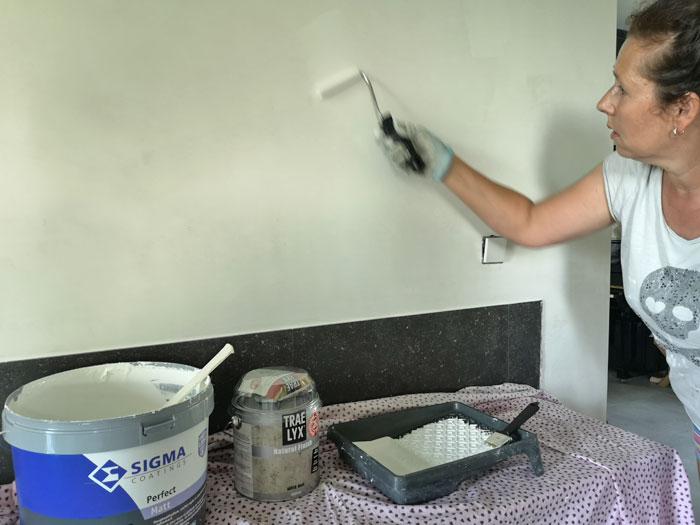 de muren in je keuken verven met afwasbare verf en ervaringen achter het fornuis