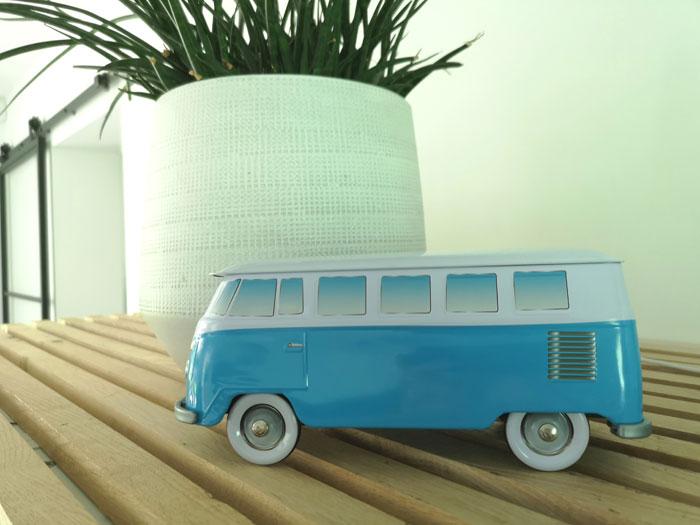 volkswagen busje koektrommel als cadeau voor papa verjaardag of vaderdag