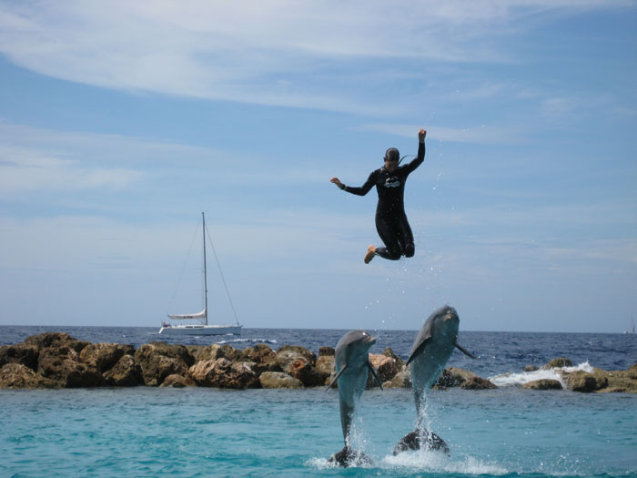 dolfijnenshow op Curaçao