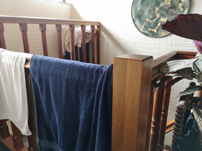 dezelfde handdoek vaker gebruiken