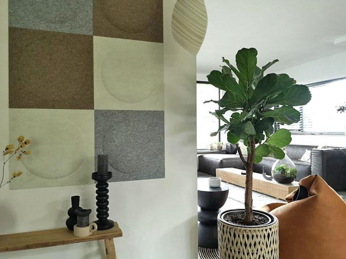 wanddecoratie in woonkamer